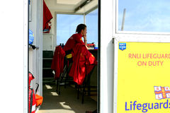 RNLI Lifeguard. Stock Photo