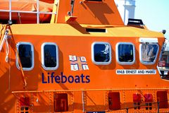 RNLI-Rettungsboot, Weymouth stockfotos