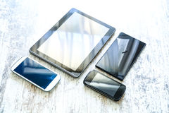 Różnorodni smartphones i pastylek PCs Zdjęcia Stock