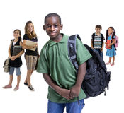 różnorodność dzieci do szkoły Obrazy Royalty Free