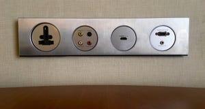 Różnorodny elektryczny i elektroniczny gniazdkowy źródło Obraz Stock