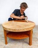 Rénovation de table Photographie stock libre de droits