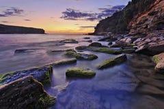 RNP Wattamola 03 stones algae Royalty Free Stock Images