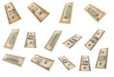 różny banknotu dolar odosobniony s Zdjęcie Royalty Free
