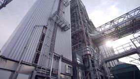Roślina oleju przerobowa fabryka, zbiornik zbiory wideo