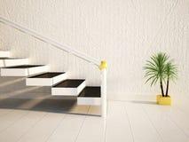 Roślina stoi blisko schodków ilustracja wektor