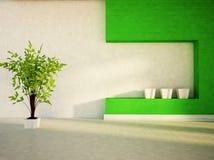 Roślina w białej wazie ilustracja wektor
