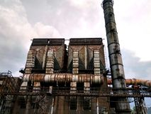 Roślina zeszłego wieka metalu ingots porzucający, buduje, Zdjęcia Stock
