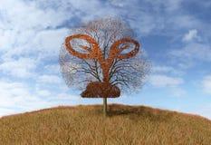 Roślina znak na drzewie ilustracja wektor