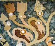 Rośliny, czerep, gorący batik, tło tekstura royalty ilustracja