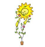 rośliny słońce ilustracja wektor