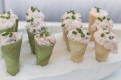 Rożek z łososiowym kumberlandem Zdjęcia Royalty Free