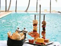 rożenków mięs owoce morza Zdjęcie Royalty Free