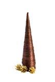 rożków ostrostożkowy formularzowy futerkowy złocisty isolate drzewo Zdjęcie Royalty Free