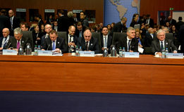 23ro consejo ministerial del OSCE en Hamburgo Imagen de archivo