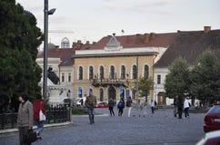RO de Cluj-Napoca, el 24 de septiembre: Ciudad Hall Building en Cluj-Napoca de la región de Transilvania en Rumania Foto de archivo