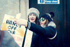 21ro de enero de 2017, marcha de mujeres Fotografía de archivo