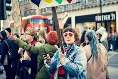 21ro de enero de 2017, marcha de mujeres Foto de archivo libre de regalías