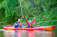 Río de la canoa Fotos de archivo