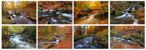 Río de la montaña en otoño Fotografía de archivo
