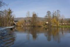 Río de Orne, Clecy, suizo Normandía, Normandía Imagen de archivo
