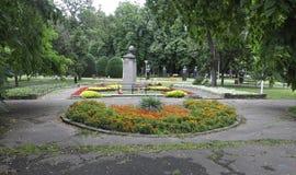 RO de Timisoara, o 22 de junho: Estátuas do Central Park na cidade de Timisoara do condado de Banat em Romênia Fotos de Stock Royalty Free