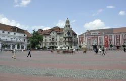 RO de Timisoara, o 21 de junho: Liberty Square na cidade de Timisoara do condado de Banat em Romênia Fotos de Stock Royalty Free