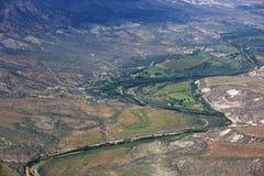Río de Verde Fotografía de archivo libre de regalías