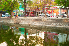 Río del silbido de bala, Chiang Mai Foto de archivo libre de regalías