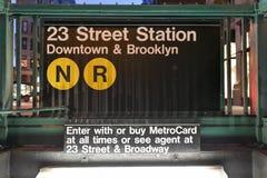 23ro estación de metro de la calle, Nueva York Foto de archivo libre de regalías