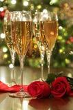 ro för champagneexponeringsglasred Arkivfoton