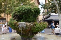 Rośliny fontanna w salonie de Provence Fotografia Stock