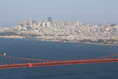 Rośliny i drzewa na Golden Gate Bridge, San Fransisco, Kalifornia, usa Obraz Royalty Free