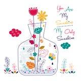 Rośliny w butelki ilustraci Obrazy Royalty Free