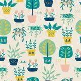 Rośliny w garnka wzorze Obraz Stock