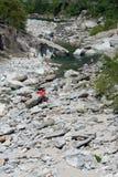 Río Maggia cerca de Ponte Brolla Foto de archivo libre de regalías