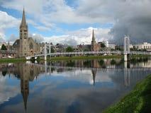 Río Ness Escocia de Inverness Fotografía de archivo libre de regalías