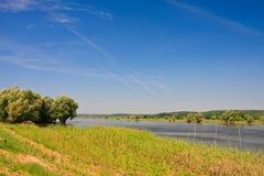 Río Oder Fotografía de archivo libre de regalías
