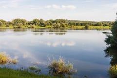 Río Oder entre Alemania y Polonia Imagen de archivo libre de regalías