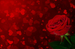 Ro på en bakgrund av hjärtor Royaltyfri Fotografi