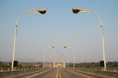 3ro puente de la amistad del Tailandés-Lao (Nakhon Phanom-Kham Muan) Imagen de archivo