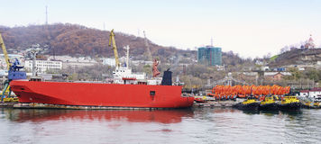 Ro-ro freight ship Royalty Free Stock Image