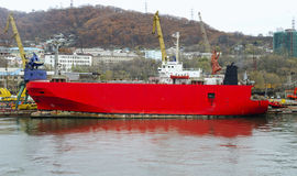 Ro-ro freight ship Stock Images