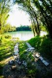 Río salvaje de Brenta Imagen de archivo libre de regalías