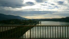 Río y cielo Fotografía de archivo libre de regalías