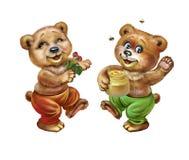 Roa björnar stock illustrationer