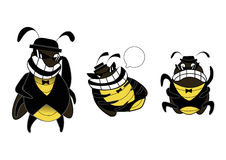 Roach gang cartoon. Funny roach gang emotions cartoon Royalty Free Stock Images
