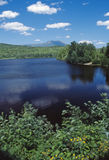 Roach pond maine. This beautiful pond ,named roach pond is located in central maine stock photo