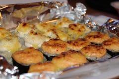 Roached Rolls e tempura Immagine Stock