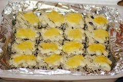 Roached Rolls e tempura Fotografia Stock Libera da Diritti
